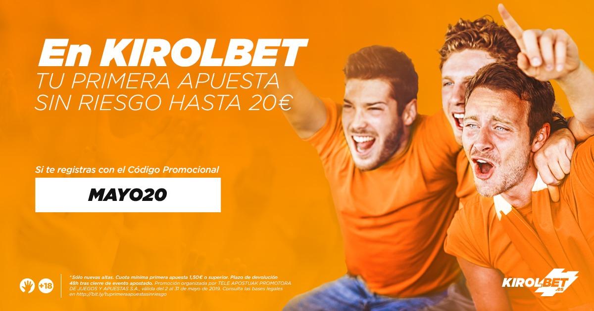 Promo Kirolbet MAYO20